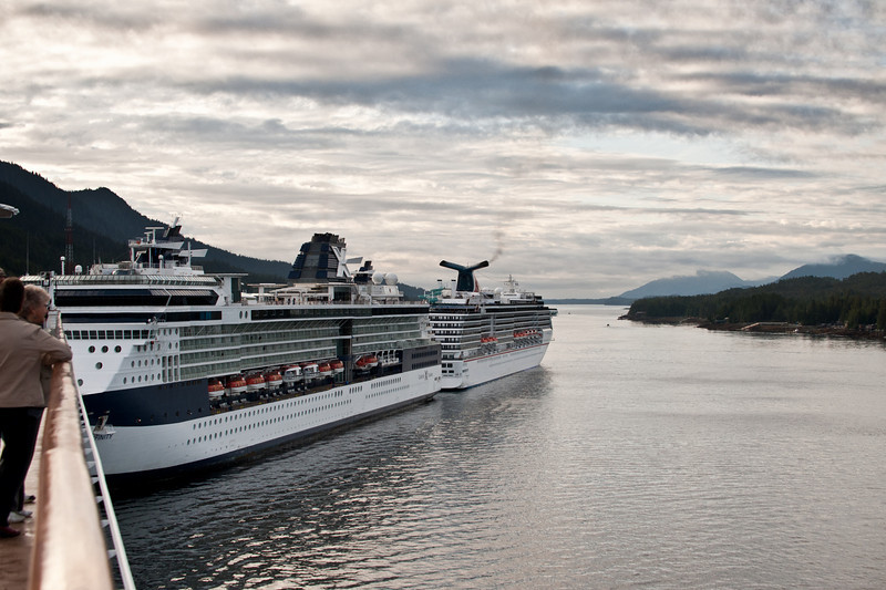 A Princess cruise ship joins the two Celebrity ships.