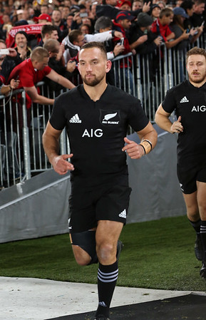 Aaron Cruden  during game 10 of the British and Irish Lions 2017 Tour of New Zealand, the third Test match between  The All Blacks and British and Irish Lions, Eden Park, Auckland, Saturday 8th July 2017 (Photo by Kevin Booth Steve Haag Sports)  Images for social media must have consent from Steve Haag