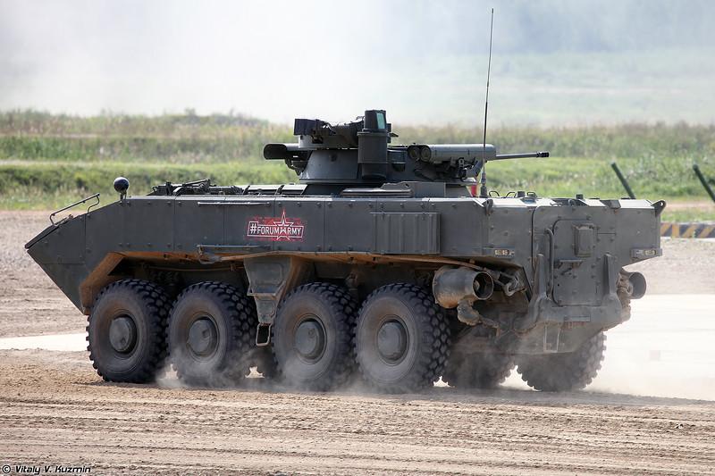 БМП-К К-17 с боевым модулем Б05Я01  Бережок на платформе ВПК-7829 Бумеранг (Wheeled IFV BMP-K K-17 with B05Ya01 Berezhok turret on platform VPK-7829 Bumerang)
