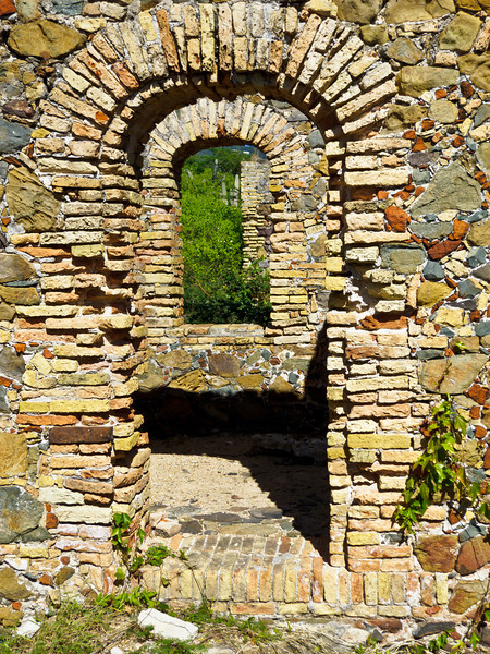 Picture of door arches in the ruins of Fort Willoughby on Hassel Island, St Thomas