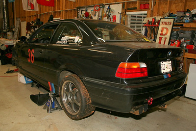 Damaged E36 M3 chassis & parts for sale