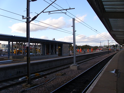 New platform at peterborough station 2013