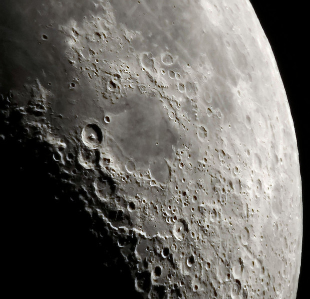 April 21, 2010 Theophilus and other craters are the most prominant craters in this image. Al Paslow - Mingo Obs. 10 inch f-12 refractor.