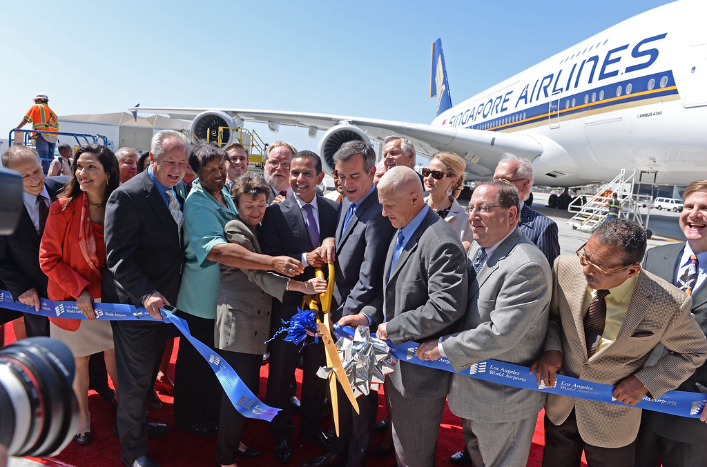 . At LAX, dignitaries gathered to open the new Tom Bradley International Terminal. (Wed. Sept 18, 2013 Photo by Brad Graverson/The Daily Breeze
