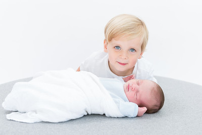 Newborn Kimpton & big brother..mini mini studio session