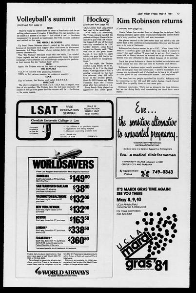 Daily Trojan, Vol. 90, No. 58, May 08, 1981