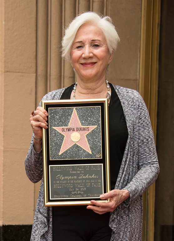 . HOLLYWOOD, CA - MAY 24:  Actress Olympia Dukakis is honored with the 2,498th Star on The Hollywood Walk Of Fame on May 24, 2013 in Hollywood, California.  (Photo by Mark Davis/Getty Images)