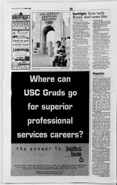 Daily Trojan, Vol. 139, No. 13, January 31, 2000