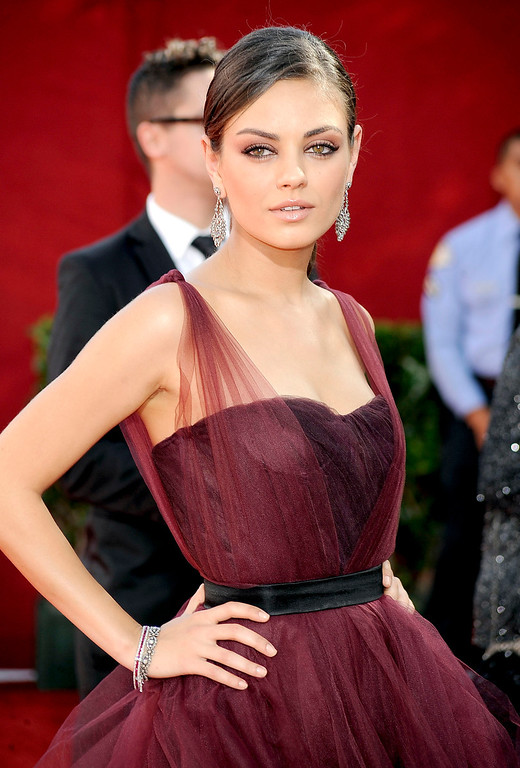 . Actress Mila Kunis arrives at the 61st Primetime Emmy Awards held at the Nokia Theatre on September 20, 2009 in Los Angeles, California.  (Photo by Frazer Harrison/Getty Images)