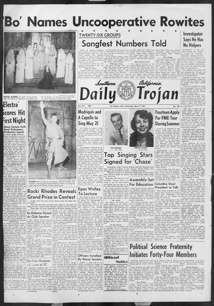Daily Trojan, Vol. 45, No. 130, May 12, 1954