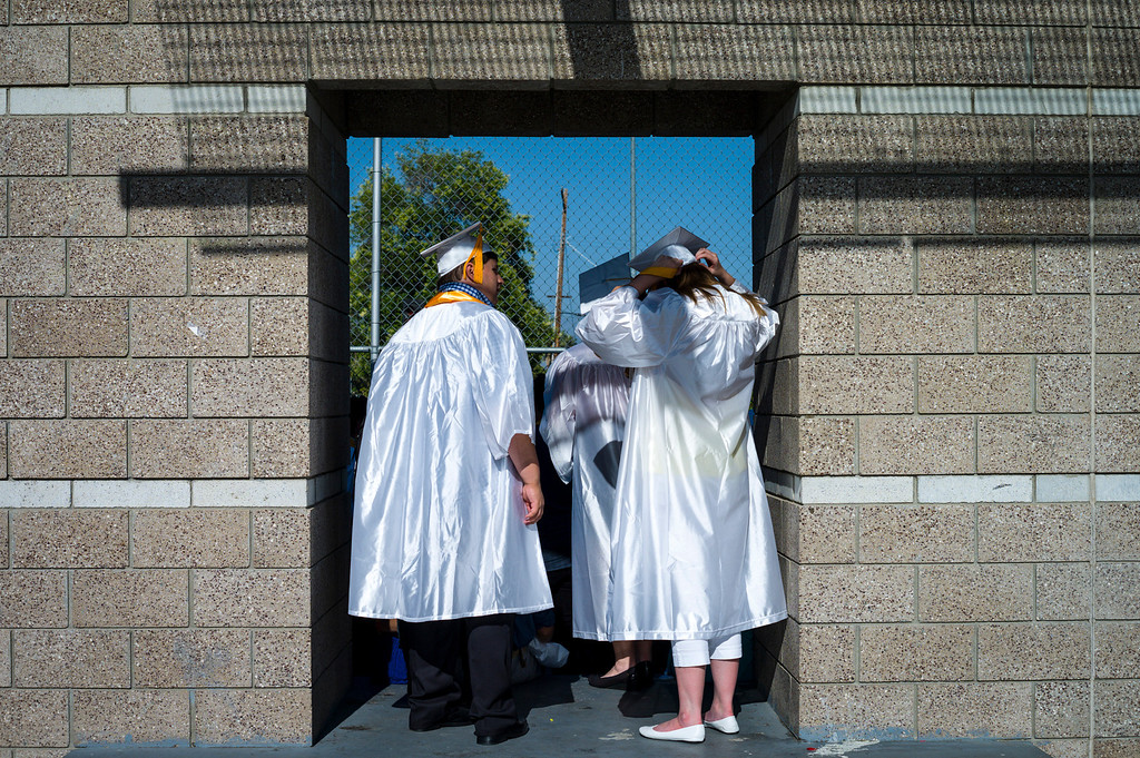 . Kennedy High school graduates prepare for their graduation Thursday, June 5, 2014.   ( Photo by David Crane/Los Angeles Daily News )