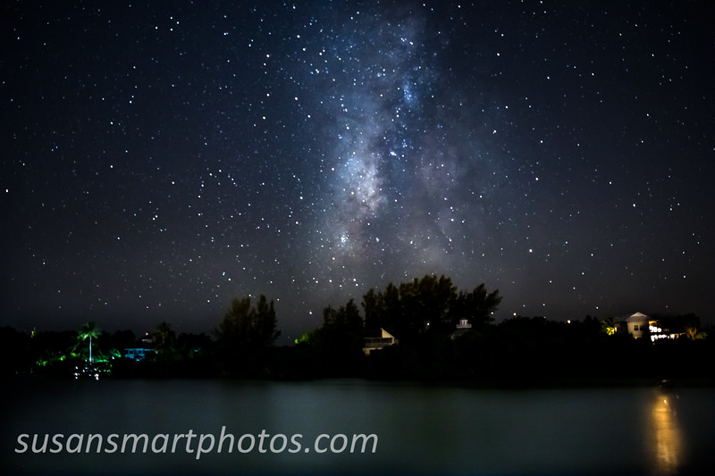 Milky Way Over Palm Island