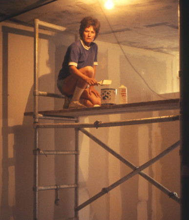1975, Roxanne Sealing the Ceiling