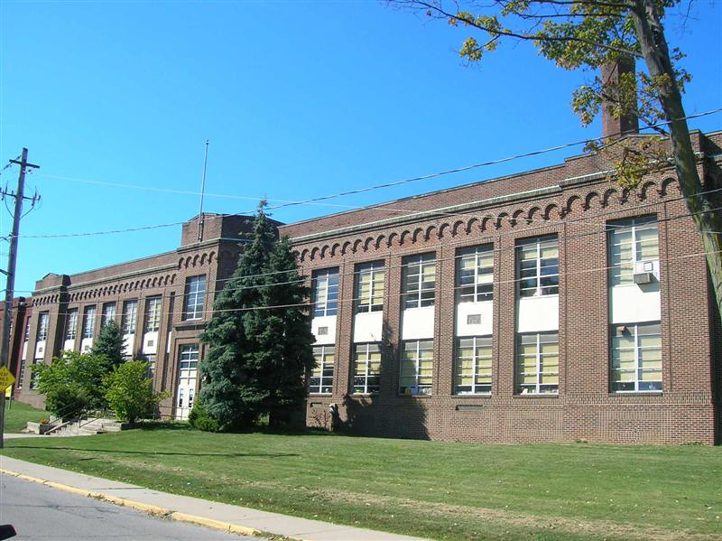 . Historic photo provided by Jim Smith <br> Irving Junior High School opened in 1921 at 1110 W. 4th Street in Lorain, and is now a Constellation School.