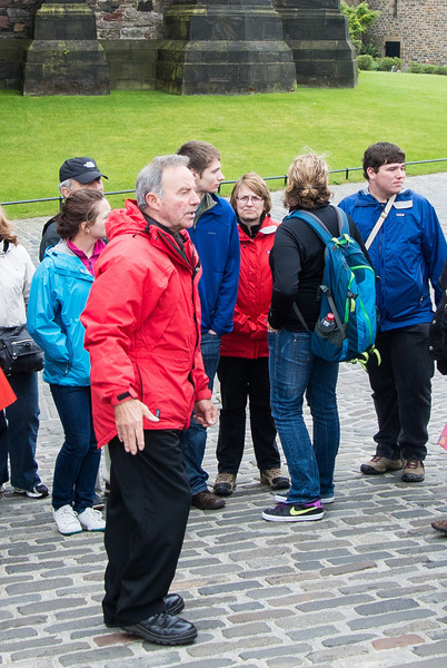 We could barely understand the Scottish brogue of our tour guide.