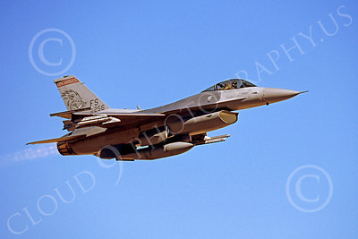 Flying Air National Guard Lockheed Martin F-16 Fighting Falcon Airplane Pictures