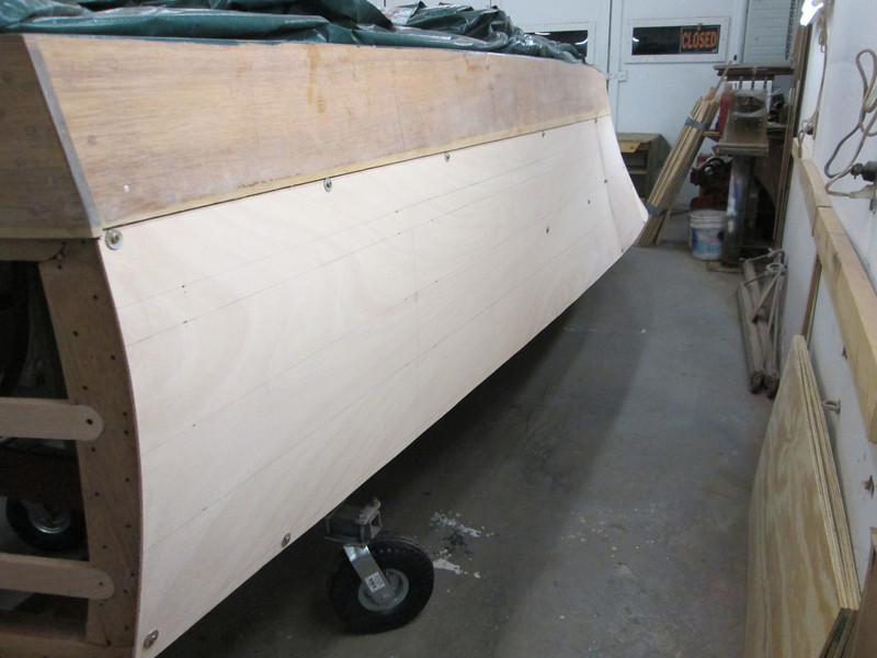 Rear port view of plywood fit.