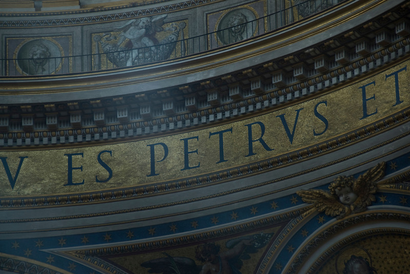Details inside St Peter's Basilica in Vatican City