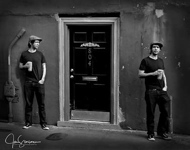 French Quarter in B&W 2-9-2008