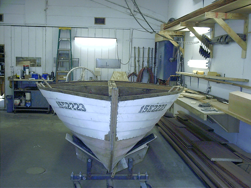 Front view of the hull right side up.