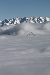 Inversion to the Gore Range from McCoy Peak, CO