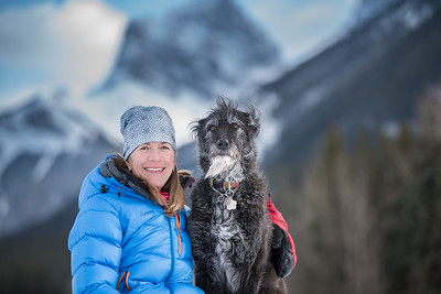 Kat and Rhu in Canmore