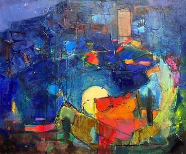 """Artists have dreams"" (oil on canvas) by Marina Berezina"