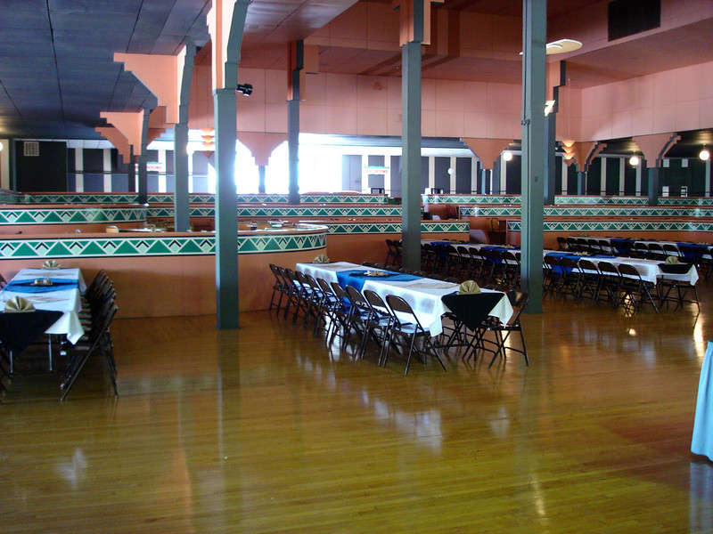 The banquet area of the grand ballroom upstairs (my picture of the main dancefloor and stage didn't come out).