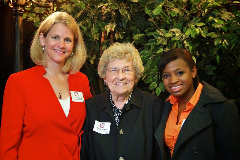 Jeanna Spiker, Denice McKee, Kanisha Fowler. Scholarship Luncheon at Gardner-Webb University.