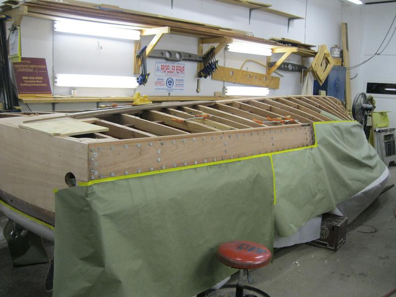 New port side plank installed.