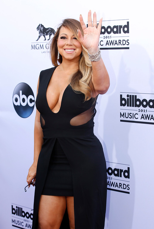 . Mariah Carey arrives at the Billboard Music Awards at the MGM Grand Garden Arena on Sunday, May 17, 2015, in Las Vegas. (Photo by Eric Jamison/Invision/AP)