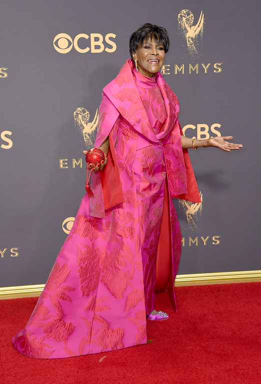 . Cicely Tyson arrives at the 69th Primetime Emmy Awards on Sunday, Sept. 17, 2017, at the Microsoft Theater in Los Angeles. (Photo by Richard Shotwell/Invision/AP)