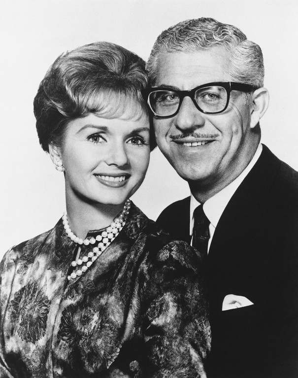 . Actress Debbie Reynolds and Los Angeles shoe manufacturer Harry Karl are seen in an undated file photo. They were married in 1960 after her marriage to Eddie Fisher broke up over Elizabeth Taylor. (AP Photo)