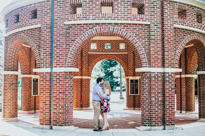 engaged couple at Clemson