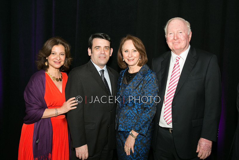 Photo Credit: Jacek Photo. Caption: L-R: Sue Ellen Beryl, William Hayes, Judy Mitchell and Bert Korman at The Cultural Council of Palm Beach County 2014 Muse Awards at The Kravis Center in West Palm Beach, Fla. on March 13, 2014.