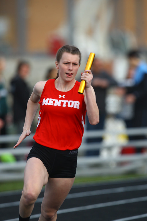 . 2018 - Track and Field - Willoughby South Invitational. 4x200 Meter Relay.  Mentor won in 1:46.37 anchored by Paige Floriea.