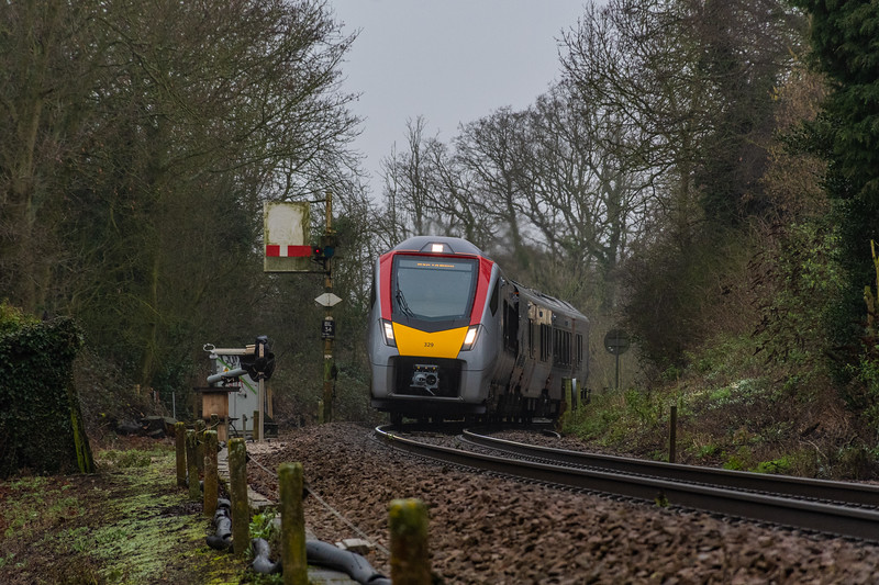 755329 accelerates away from Brundall