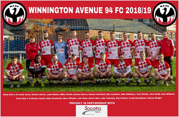 Winnington Avenue 94 Team Photos 2018/19
