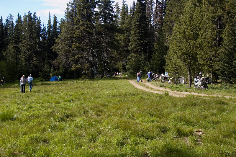 Camp near Sugerloaf summit.