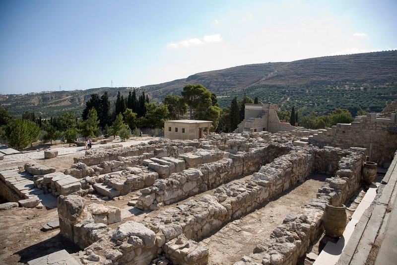 Ruins of the Palace of Minos.  Knossos, Crete.
