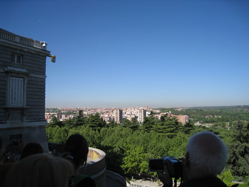 view from palacio real balcony