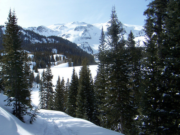 Snowshoeing on Red Mountain