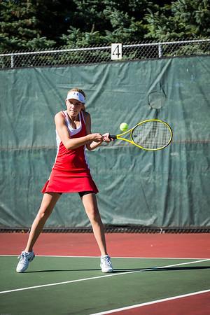 High School Tennis - Marquette Redettes vs Escanaba Eskymos - 09/17/13