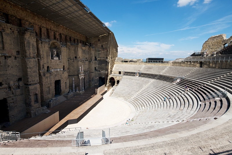 Orange Roman Theater Seats had a capacity of 20,000 spectators.  The audioguide (free with admission) is excellent education about theater through the ages.