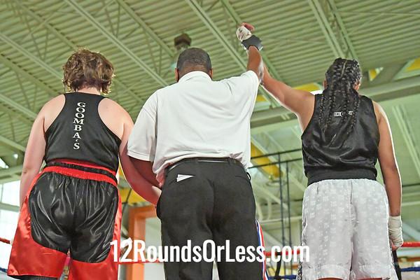 Bout 9 Aman Kendola, RG, Ontario -vs- Erin Hoeflich, BG, Buffalo, Female, 152 #