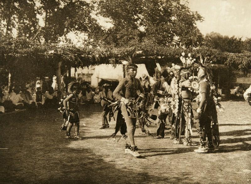Skidi and Wichita dancers (The North American Indian, v. XIX. Norwood, MA, The Plimpton Press,  1930)
