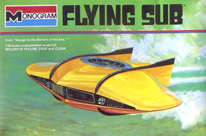 Monogram Box Art, Flying Sub From Voyage to the Bottom of the Sea