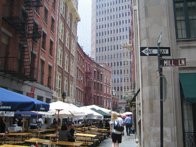 Stone Street - a historic old spot in the heart of the financial district