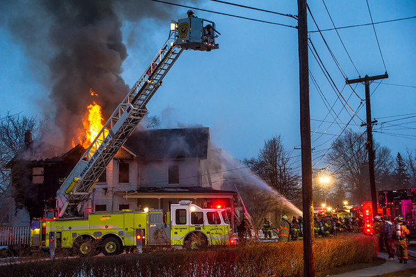 Firefighters Battle a Second Alarm Fire in Englishtown
