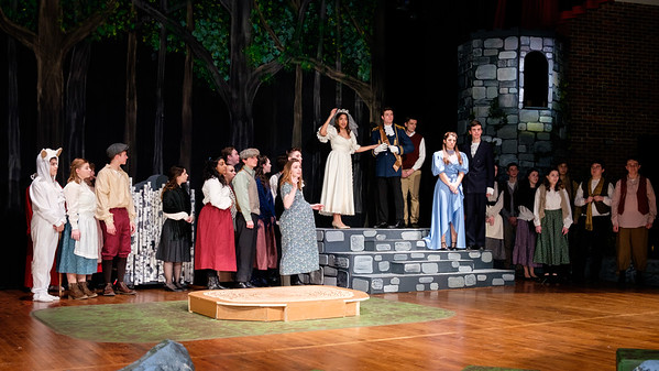 2017-2018 NHRHS Into the Woods Set Building and Rehearsal